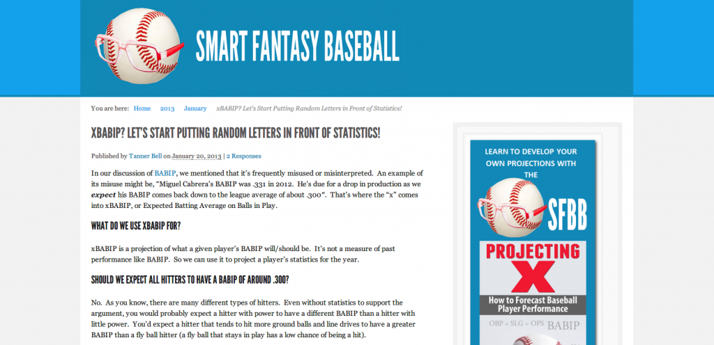 What is xBABIP  Let s Start Putting Random Letters in Front of Statistics    Smart Fantasy Baseball